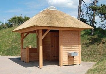 Den Hartog riet - poolhouse