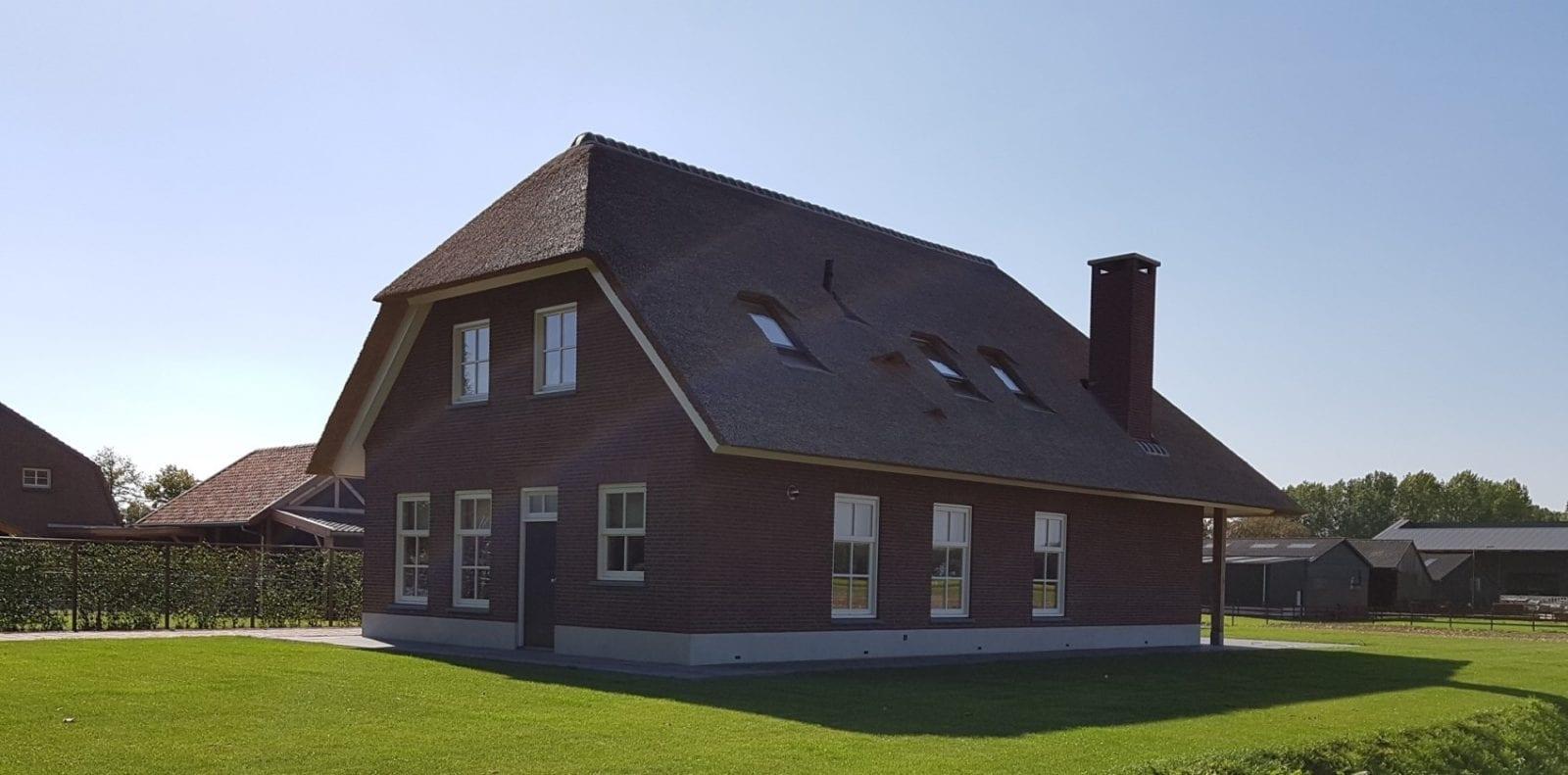 Rietdekken landhuis in Delwijnen
