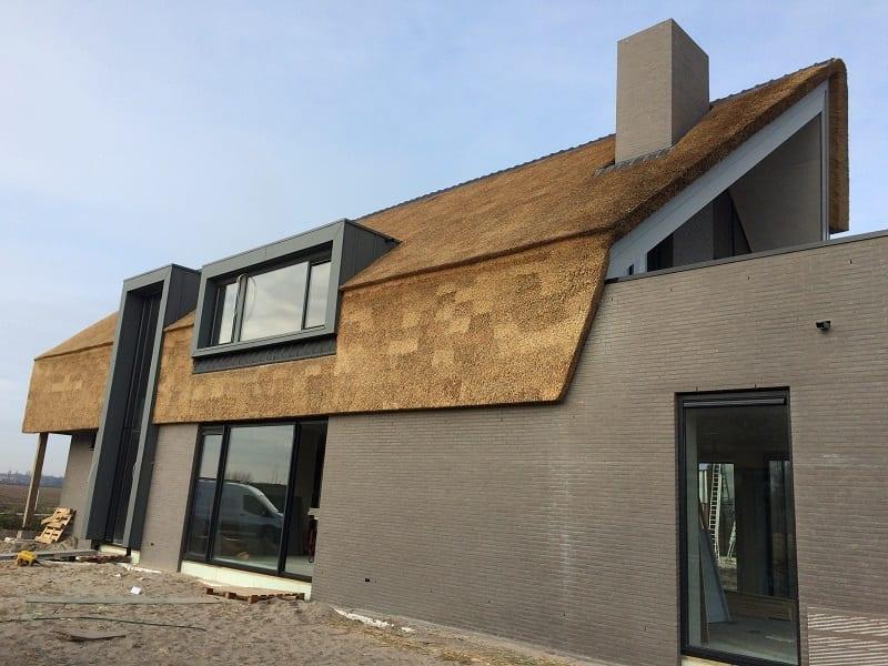 Moderne villa met gevelriet