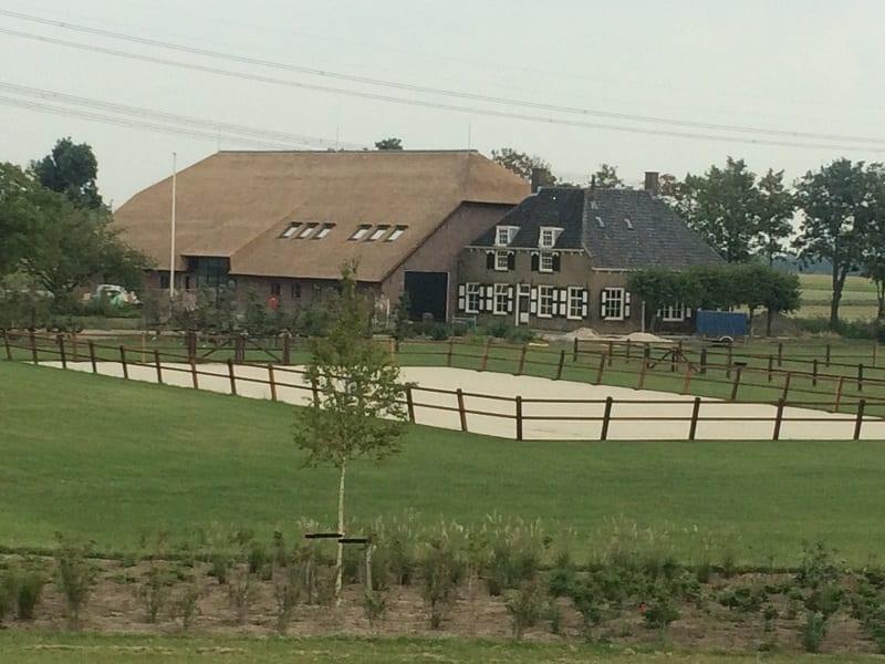 Rieten dak woonboerderij