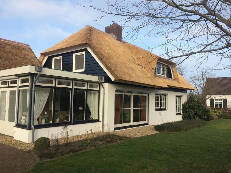 Nieuw rieten dak met isolatie
