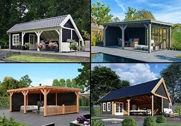 Trendhout bijgebouwen (diverse modellen) - Den Hartog Riet